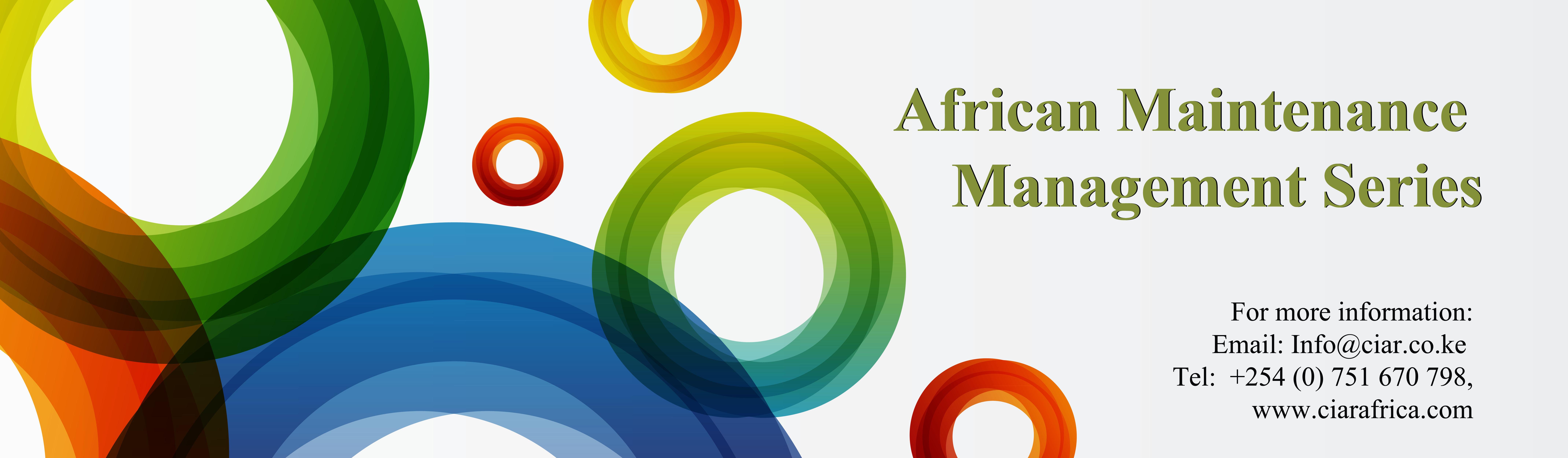 Africa Maintenance Management Series